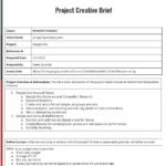 Creative Project Brief Page 1
